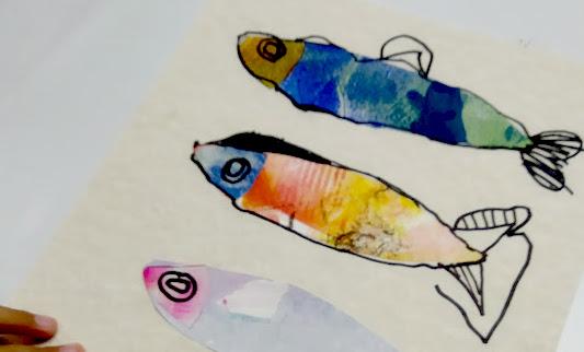 pesci collage